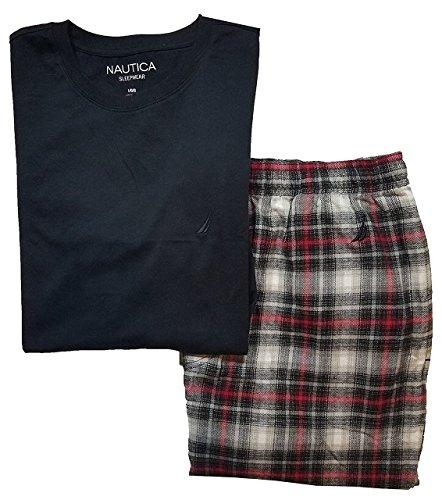 Nautica Mens Pajama T Shirt Plaid