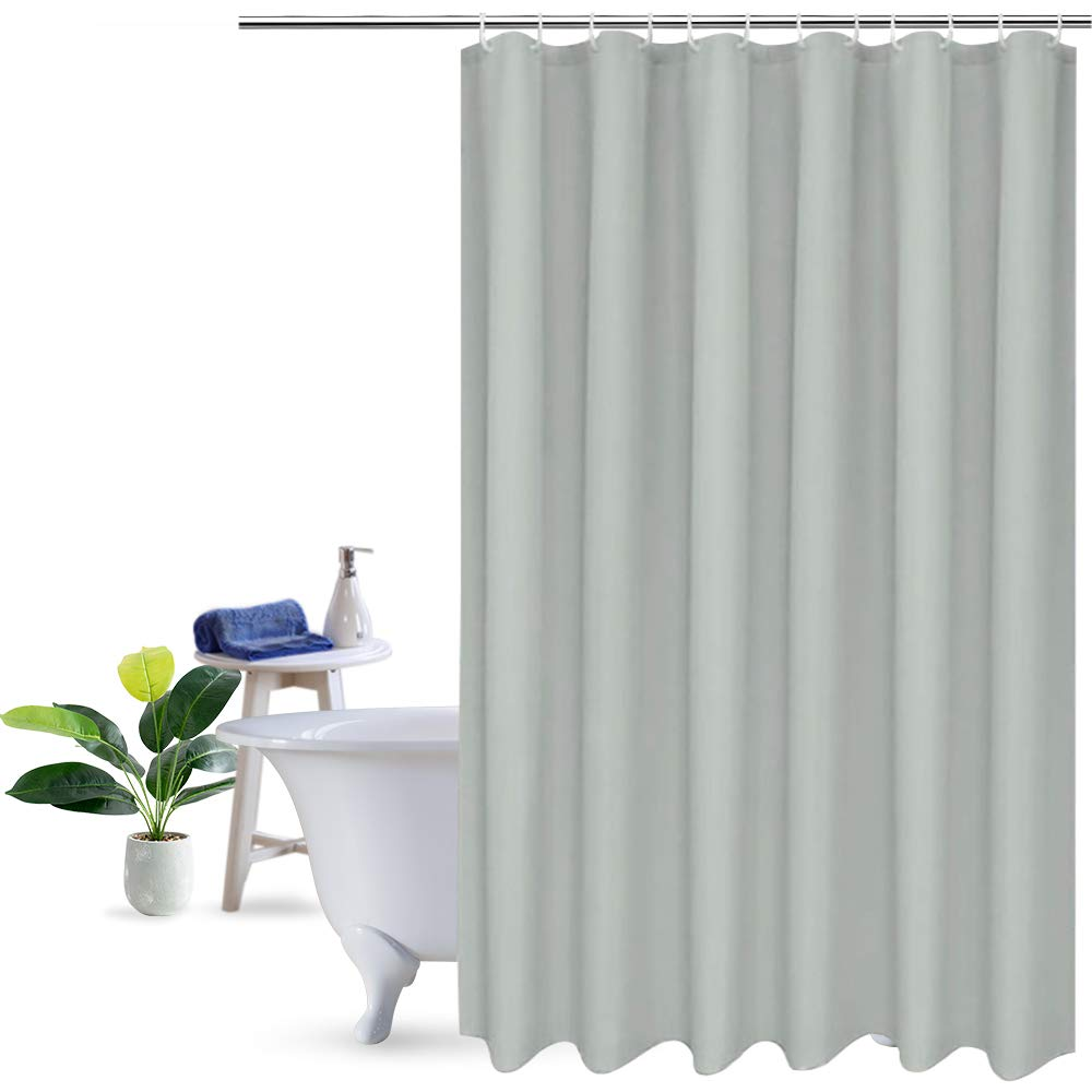 Amazon UFRIDAY Gray Grey Shower Curtains For Bathroom Plain Curtain 72x72 Inch Mildew Resistant Home Kitchen
