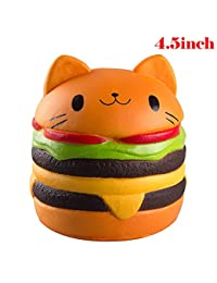 WATINC Kawaii 1 pcs Jumbo Cat Hamburgers Squishy Cream Scented Slow Rising large Kawaii Squishy Charms, Hand Pillow Toy, Stress Relief Toy Toy hop props, decorative props Large (Hamburgers ) BOBEBE Online Baby Store From New York to Miami and Los Angeles