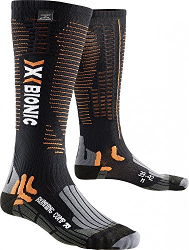 X-Socks Hombre Running Competition for Lamborghini calcetines Black/Orange