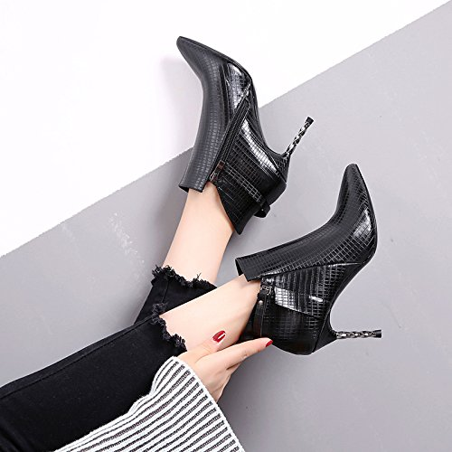 Female High Boots Boots Fine High Winter Winter Black Martin New Boots Boots With Heeled Bare Boots Korean Boots KPHY And Winter Heeled 70waaA