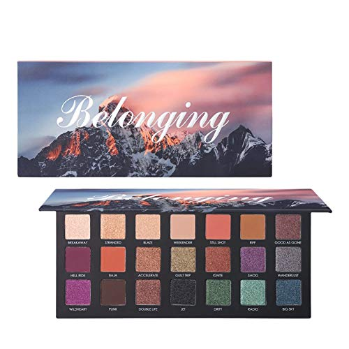 Matte Eyeshadow Palette Highly Pigmented, UCANBE Pro 21 Colors Shimmer Eye Shadow Palettes Long Lasting Waterproof Makeup Cosmetics,6 Matte and 15 Shimmer Blending Eye Shadows
