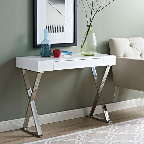 Modway Sector Console Table White product image