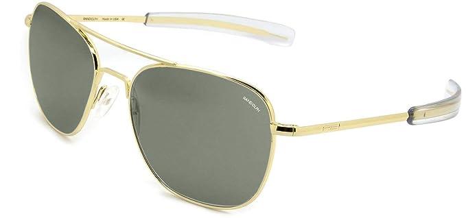 Randolph Aviator Bayonet Temple 23K Gold Frame Sunglasses