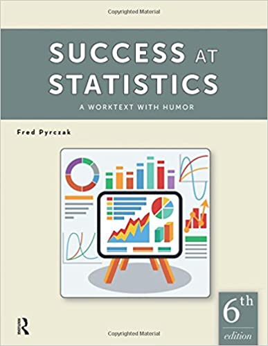 Amazon success at statistics a worktext with humor success at statistics a worktext with humor 6th edition fandeluxe Image collections