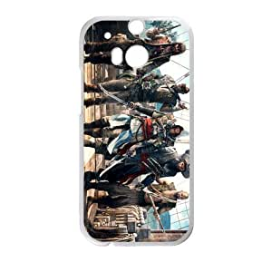 RAROFU Assassin's Creed Custom Case for HTC One M8 (Laser Technology)