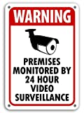 SECURITY SURVEILLANCE SIGNS Sign burglar- robber- thief video warning Monitored by Video Surveillance Home Yard Sign Rust Free Outdoor Waterproof Fade Resistant UV Protective Ink Made in USA!