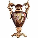 European Orem Los Wedding Decoration Printed Binaural Porcelain Vase