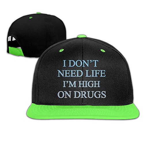 children-i-dont-need-life-adjustable-snapback-baseball-hat-kellygreen