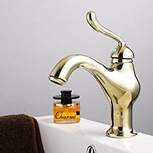 IDO The copper plated faucet European fashion atmosphere single type washbasin mixed faucet spot , 60