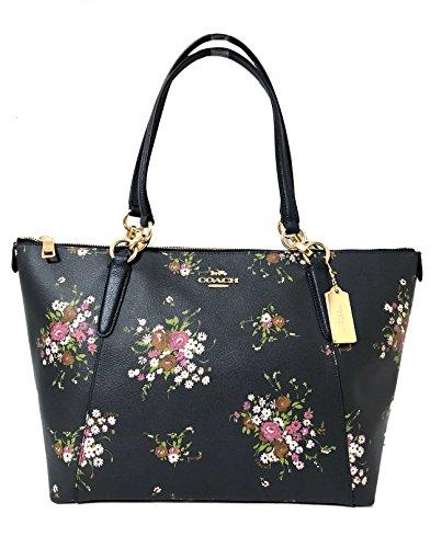 Coach AVA Leather Shopper Tote Bag Handbag (IM/Midnight ()