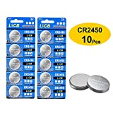 nuon batteries - LiCB 10 Pack CR2450 Battery 3V Lithium CR 2450