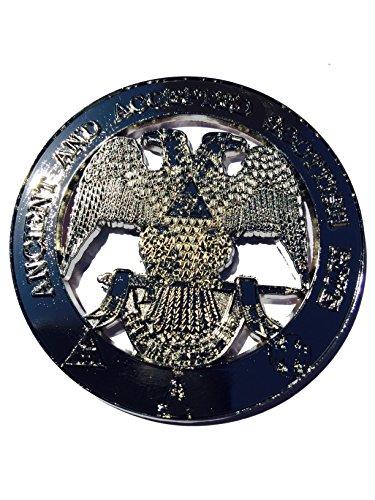 (Masonic Metal Chrome 32nd Degree wings down auto Car decorative Emblem)