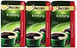 jacobs coffee - Jacobs Coffee Jacobs Kronung Decaf Ground Coffee, 17.6-Ounce Packages (Pack of 3)