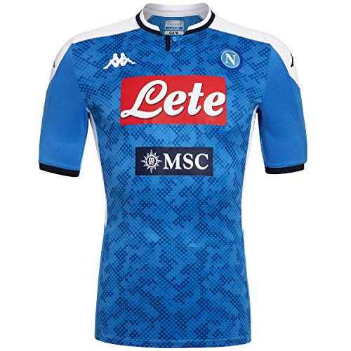 Napoli Blue Shirt - Ssc Napoli Italian Serie A Men's Home Match Shirt, SkyBlue, XL