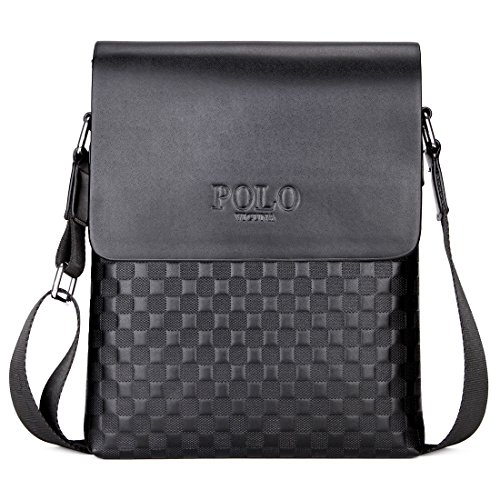VICUNA POLO Business Man Bag Classic Plaid Design Men Messenger Bag Shoulder - Classic Polo Bag