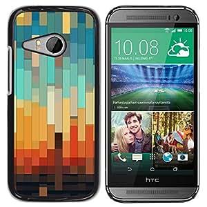 "Pulsar Snap-on Series Teléfono Carcasa Funda Case Caso para HTC ONE MINI 2 / M8 MINI , 3D del trullo en colores pastel Naranja Marrón"""