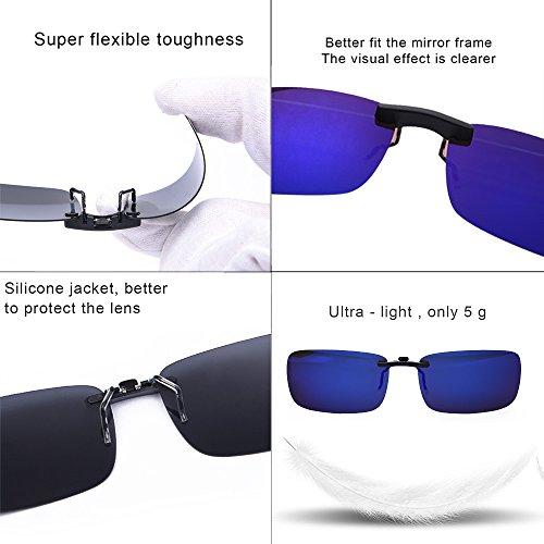 prescription lunettes de myopie clip Lunettes lunettes de soleil extérieure Good des pêche Bleu Clip conduite de pour de unisexe pour sur polarisé soleil lunettes qXwxHIv