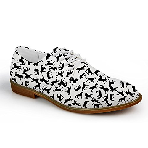 Animal Dress Shoes horse Horse Pug Oxford Print Cats Cute for Men Nopersonality FB5Cqq