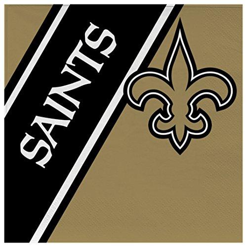 NFL New Orleans Saints Disposable Paper Napkins, Pack of 20