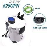 Polar Aurora 265GPH / 266GPH / 370GPH / 525GPH External Aquarium Filter with Builtin Pump Kit Canister (266/370 / 525 GPH with UV)