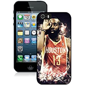 Fashionable And Durable Designed Case For iPhone 5 With Houston Rockets James Harden 4 Phone Case