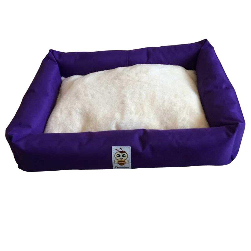 Nunubee Oval Dog Beds Kennel Pet Nest Cat Pad Waterloo Blue Gray Small Medium Large