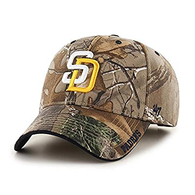 MLB San Diego Padres Frost '47 MVP Adjustable Hat, Realtree Camouflage, One Size