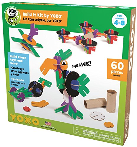PBS Kids Build It Kit by YOXO - 60 Pieces - Creative Building Toy System ()