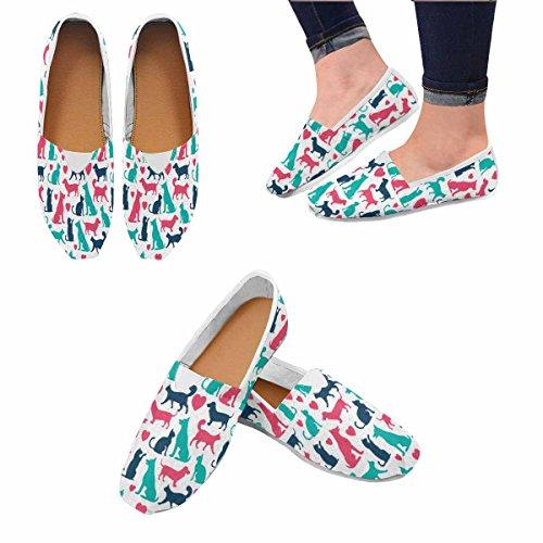 Mocassini Da Donna Di Interestprint Classico Canvas Casual Slip On Shoes Sneakers Flats Gatti E Cani Multi 1
