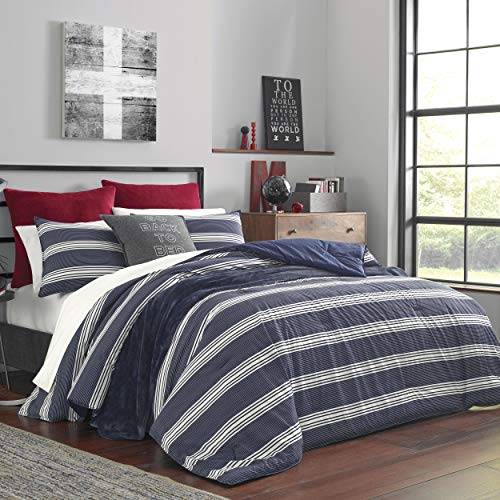 Nautica Craver Comforter Set, Twin, Navy