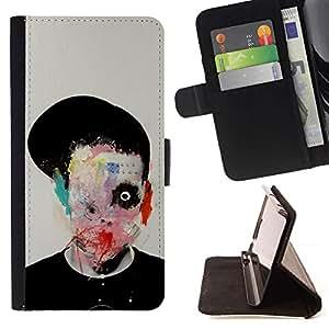 Momo Phone Case / Flip Funda de Cuero Case Cover - Resumen Horror Bow Significado Arte Profundo - LG G2 D800