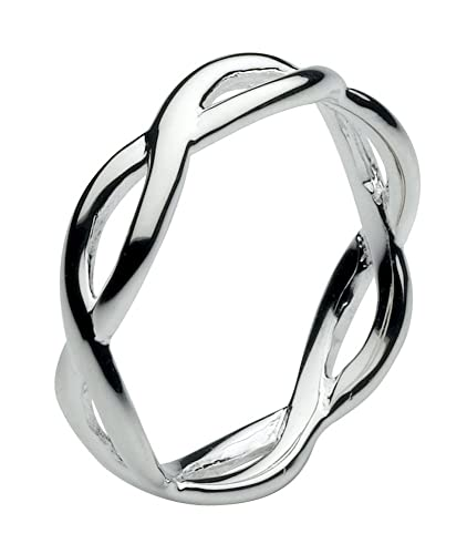 Dew Sterling Silver Band Ring - Size - N OONGc