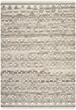 Safavieh Natural Kilim Collection NKM316B Flatweave Natural and Ivory Wool Area Rug (5′ x 8′) Review