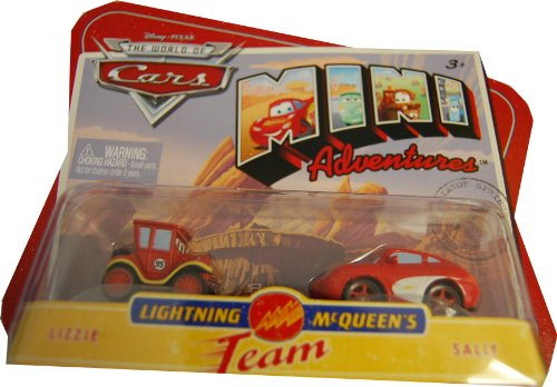 Disneys Cars Mini Adventures 2Pk Lightning McQueen Team Lizzie & (Mini Adventures Two Packs)