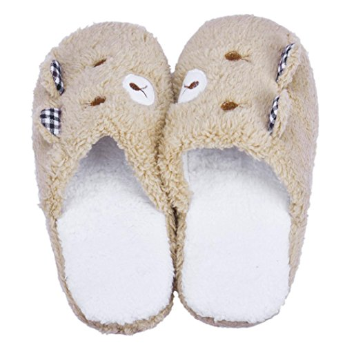 padded Shoes Cotton 6 Home Bear Soft Shoes Qingfan Flats 5 Lovely Slippers 8 Coffee Floor H8w4nvx