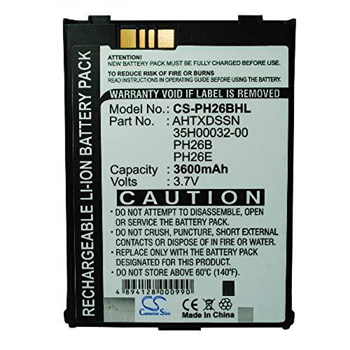 LNTSFE-EB 3600mAh/13.32Wh 3.7V PDA, Pocket PC Battery for AHTXDSSN PH26B PPC-6600 PPC-6601 VX6600 Pocket PC Battery Universal PDA (Color : Black, Size : 71.13 x 57.83 x 11.75mm)