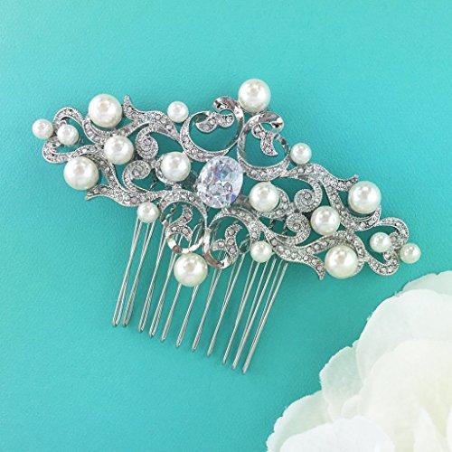 Diana Pearl - Diana Pearl Crystal Bridal Comb