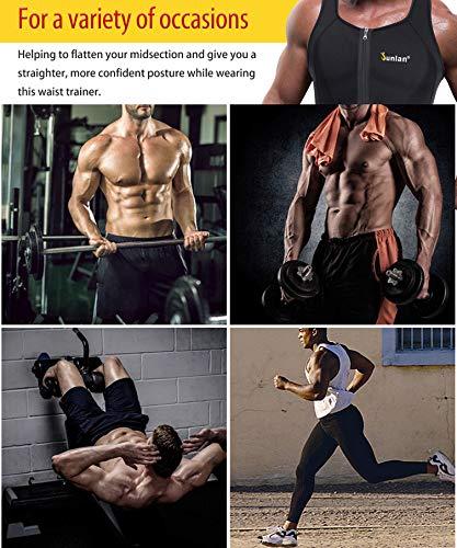 d6af7638a12cd Amazon.com  Junlan Men Sweat Waist Trainer Tank Top Vest Weight Loss Neoprene  Workout Shirt Sauna  Clothing
