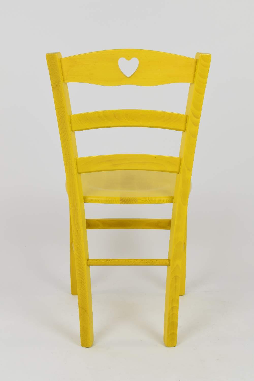 con Struttura in Legno e Seduta in Legno Colore: Giallo anilina Set di 2 sedie Cuore 38 per Cucina Bar e Sala da Pranzo Tommychairs Chair du Design