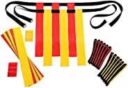 Flag Football Belts Adult - Durable 14 Player Flag Football Set of Belts and Flags Includes 3 Flags Per Belt P