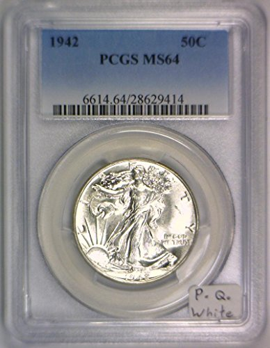 1942 No Mintmark Walking Liberty Half Dollar MS-64 PCGS