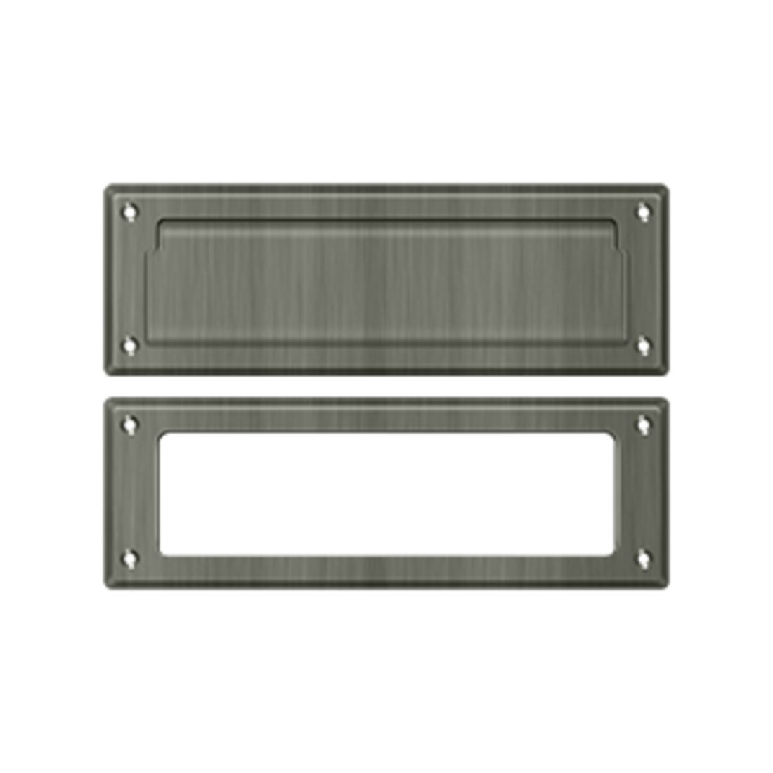 Deltana MS626U15A 8 7/8-Inch Mail Slot with Solid Brass Interior Frame