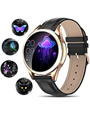 Yocuby V2 Smart Watch for Women, Fitness Tracker Compatible with iOS Android Phone, Sport Activity Tracker with Sleep/Heart Rate Monitor/Find My Phone/Physiological Reminder