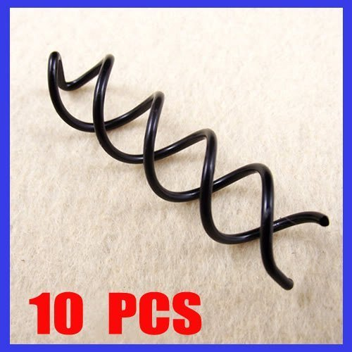 Amazon.com: 10 PCS Black Spiral Spin Screw Pin Hair Style Design Curly Clips Twist Barrettes: Health & Personal Care
