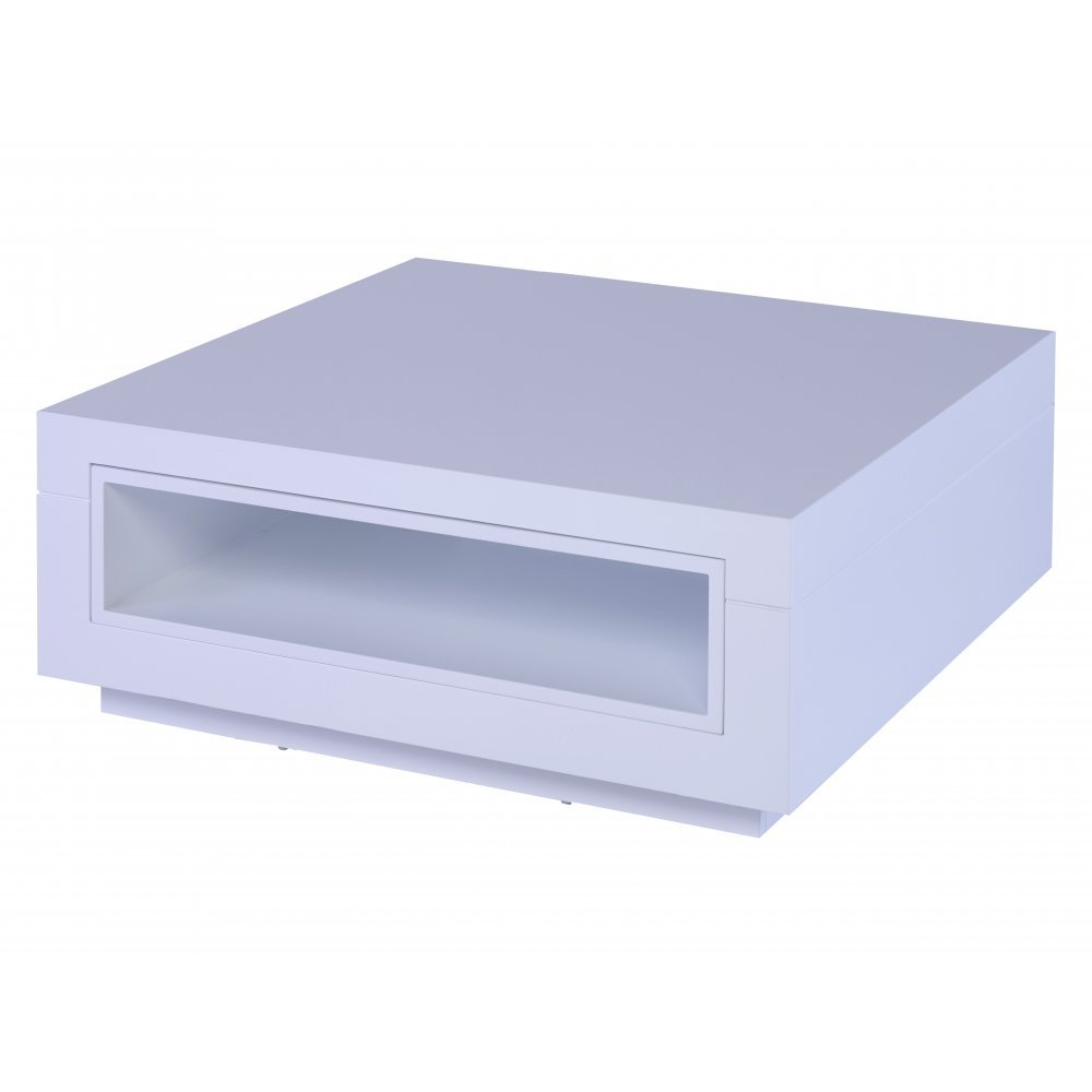 Gillmore Space White and White Accent Contemporary Square Coffee Table