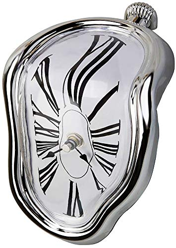 Decorative Dali Watch Melting Clock - Surrealistic Table Shelf Desk Fashion Clock Salvador Dali Inspired Funny Home Office Desks Watch Best Birthday Gift Idea for Men and Women by Creatov -