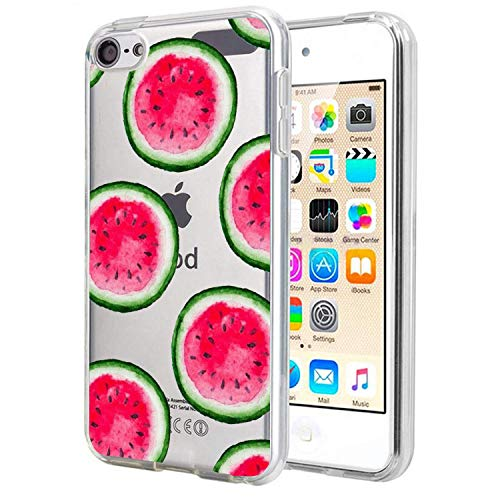 Matcase for I pod Touch 6 Case I pod Touch 5 Case - Watermelon Pattern Crystal Clear Transparent Anti Scratch Resistant Shock Absorption Ultra Slim Fit Protective with TPU Bumper Hybrid Designer Case (Ipod Touch Designer Case)