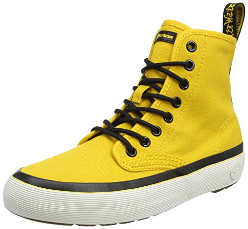 Dm Zapatillas Canvas Amarillo Yellow para Altas Dr Martens Monet Tela Mujer de SAnqEzxCwH