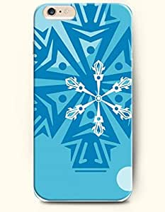 OOFIT New Apple iPhone 6 ( 4.7 Inches) Hard Case Cover - White and Blue Snowflake